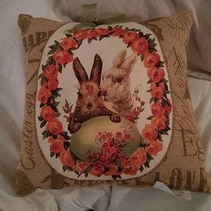 Easter Burlap Pillow